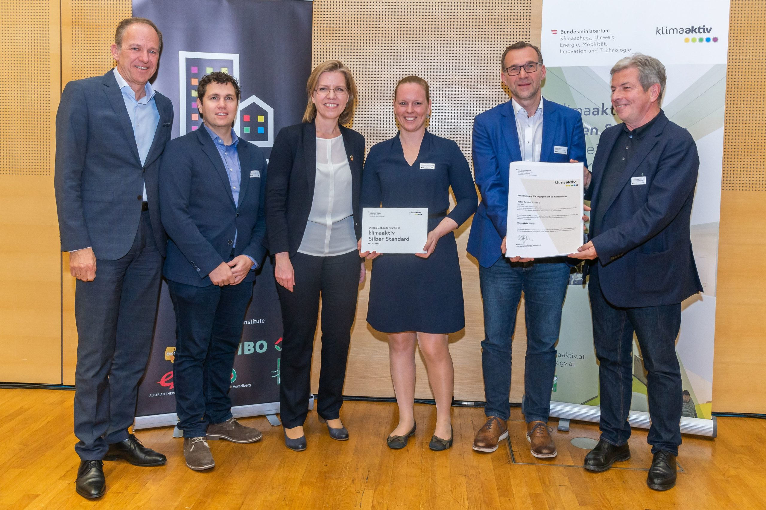 klimaaktiv und ÖGNB Auszeichnung für ökologische und energieeffiziente Gebäude